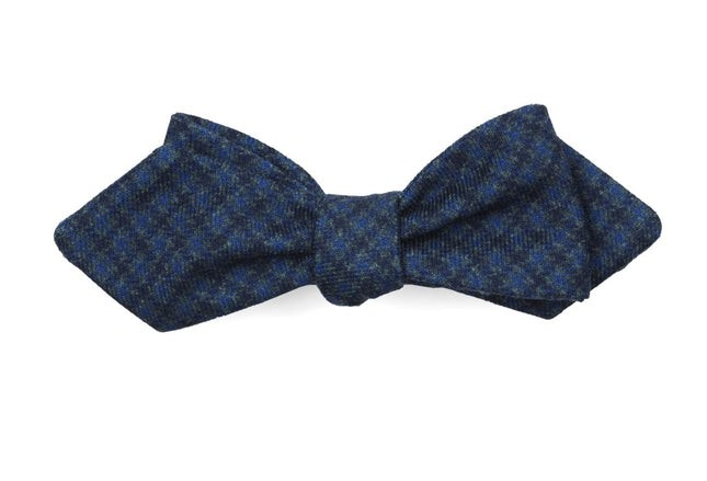Brookline Street Houndstooth Navy Bow Tie