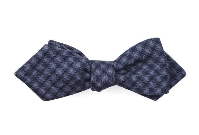 Brookline Street Houndstooth Wisteria Bow Tie