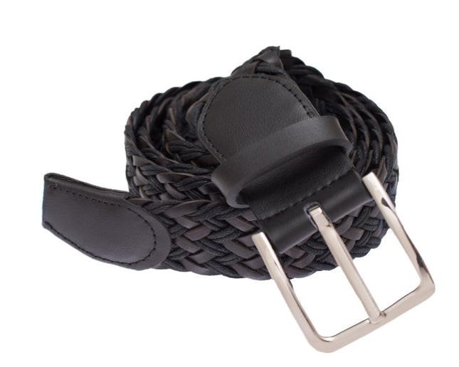 Leather Braided Black Belt