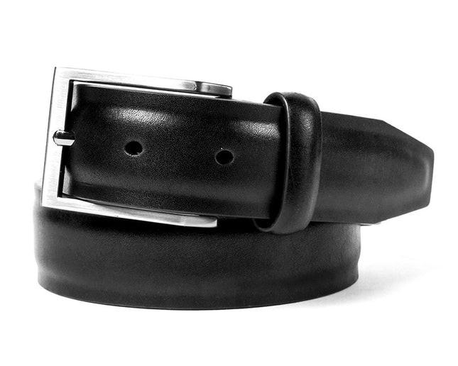 Solid Leather Black Belt