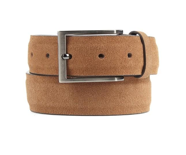 Solid Suede Tan Belt