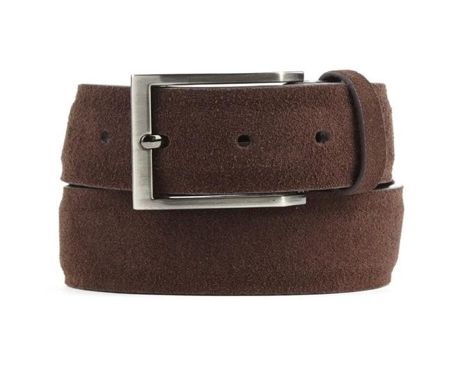 Solid Suede Brown Belt