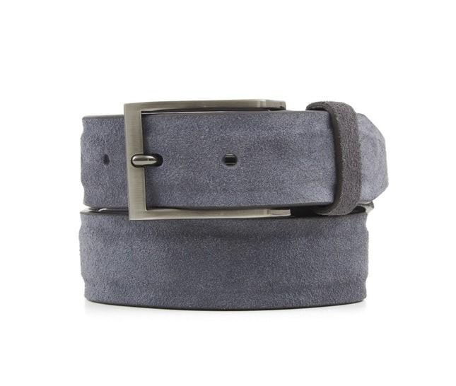 Solid Suede Grey Belt