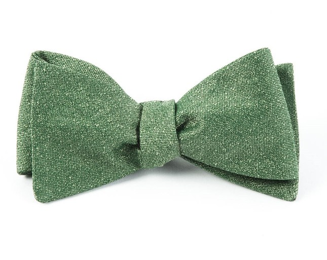 Linen Stitched Grass Bow Tie