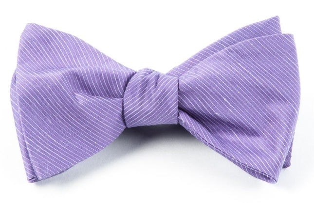 Fountain Solid Wisteria Bow Tie