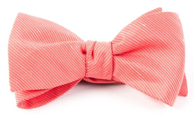 Fountain Solid Coral Bow Tie