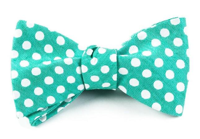 Cherry Beach Dots Mint Bow Tie