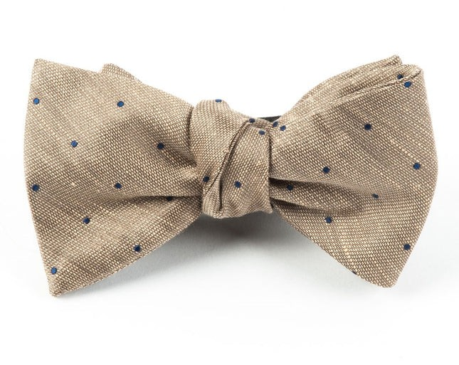 Bulletin Dot Tan Bow Tie