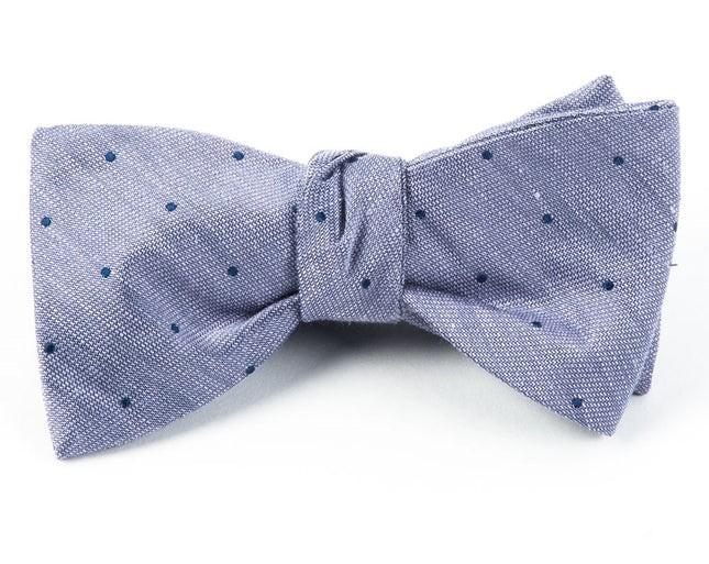 Bulletin Dot Purple Bow Tie