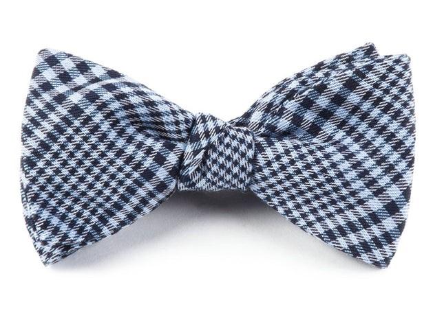 Huntington Plaid Light Blue Bow Tie