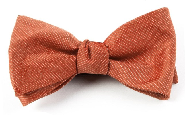 Fountain Solid Orange Bow Tie