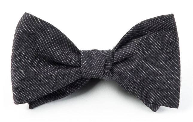 Fountain Solid Black Bow Tie