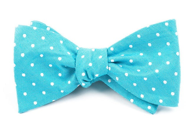 Dotted Dots Turquoise Bow Tie