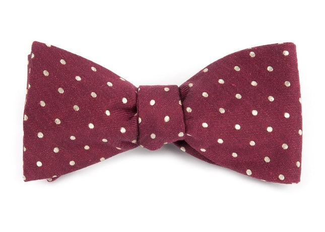 Dotted Dots Burgundy Bow Tie