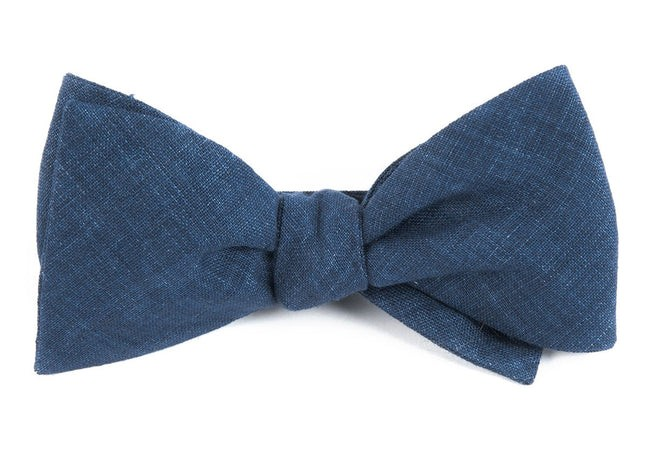 Freehand Solid Navy Bow Tie
