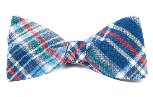 Textbook Tartan Navy Bow Tie
