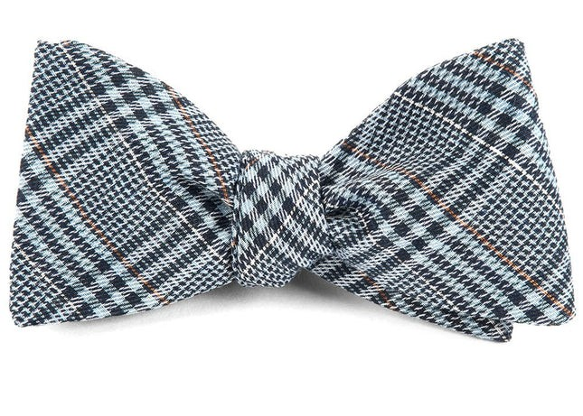 Columbus Plaid Light Blue Bow Tie