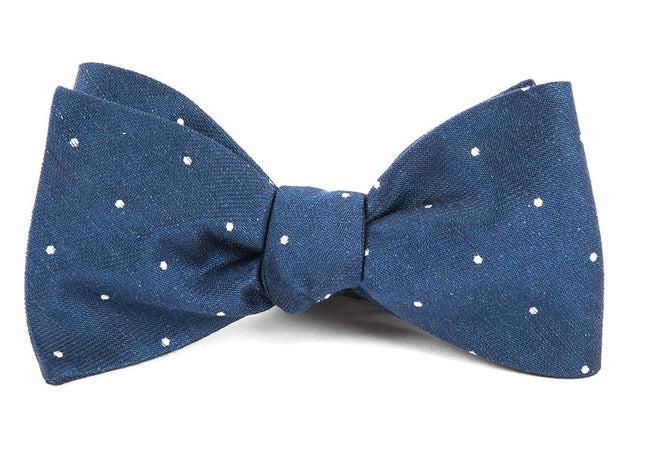 Bulletin Dot Navy Bow Tie