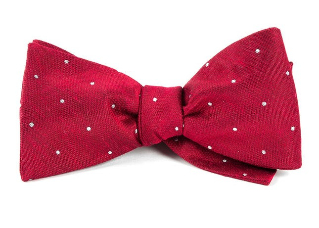 Bulletin Dot Red Bow Tie