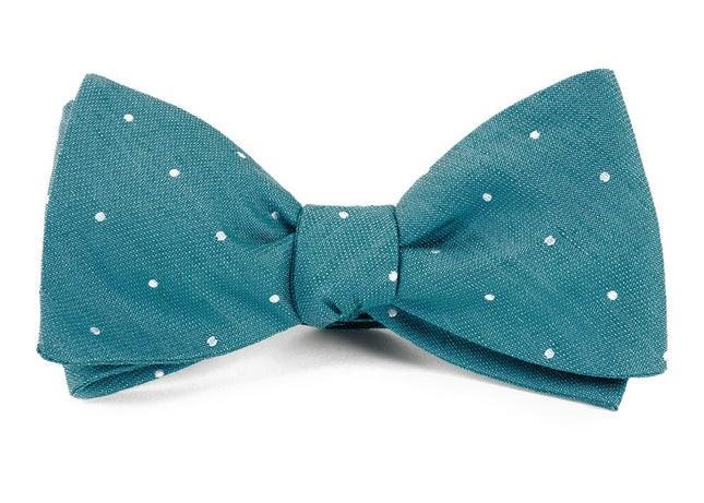 Bulletin Dot Teal Bow Tie