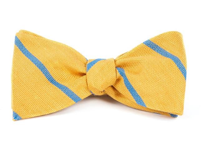 Spring Break Stripe Yellow Gold Bow Tie
