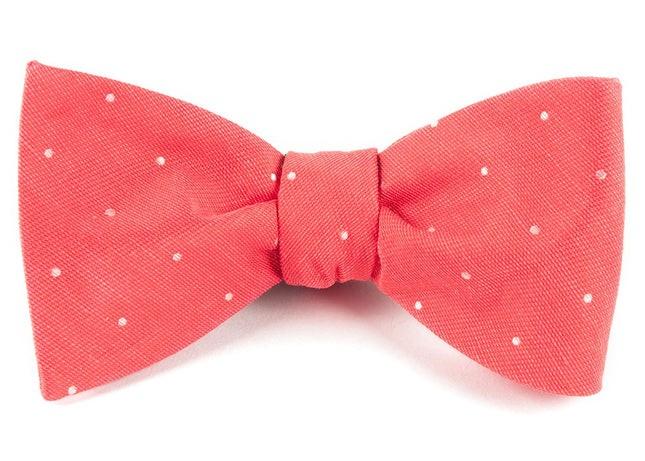 Bulletin Dot Coral Bow Tie