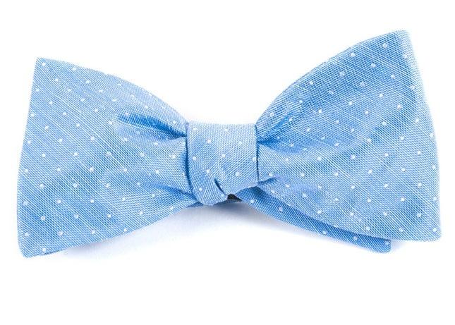Destination Dots Light Blue Bow Tie