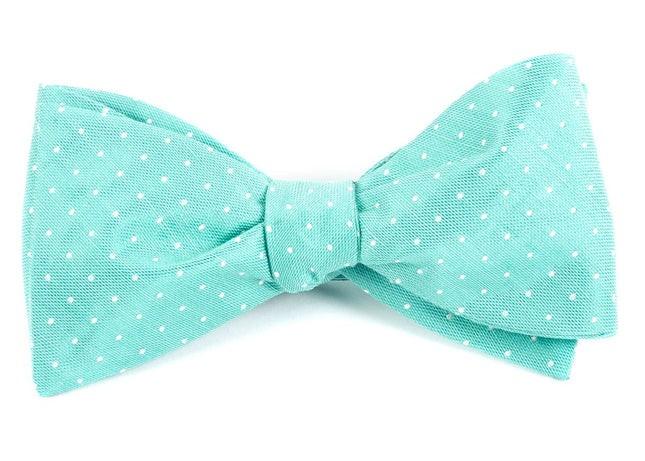 Destination Dots Mint Bow Tie
