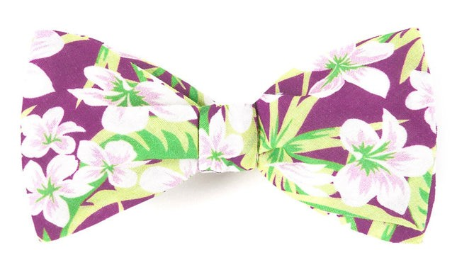 Tropic Of Linen Wine Bow Tie