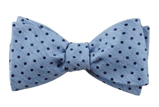 Shock Dots Light Blue Bow Tie
