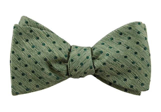 Shock Dots Clover Green Bow Tie