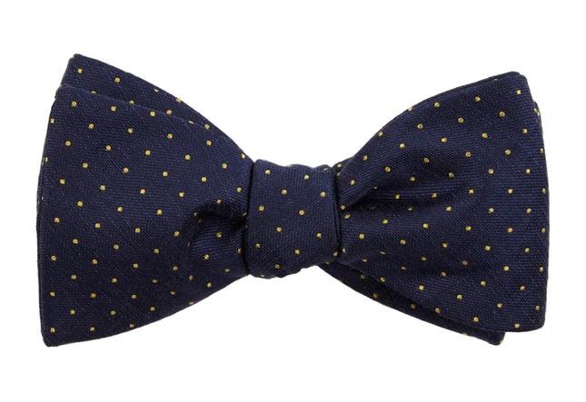 Rivington Dots Navy Bow Tie