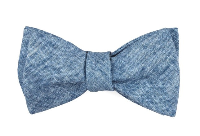 Freehand Solid Classic Blue Bow Tie
