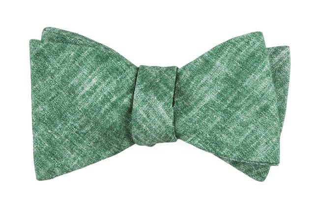 Freehand Solid Green Bow Tie