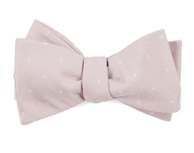 Bulletin Dot Blush Pink Bow Tie