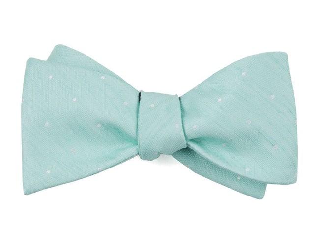 Bulletin Dot Spearmint Bow Tie