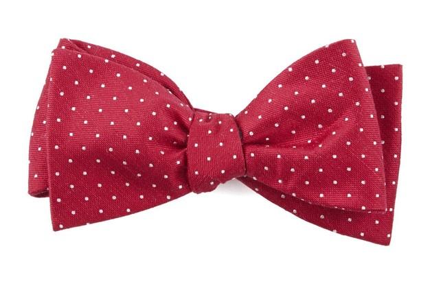 Rivington Dots Apple Red Bow Tie