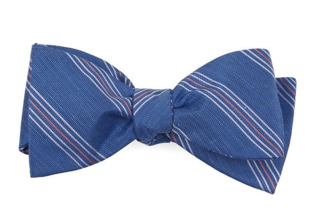 Derby Lane Stripe Light Cobalt Blue Bow Tie