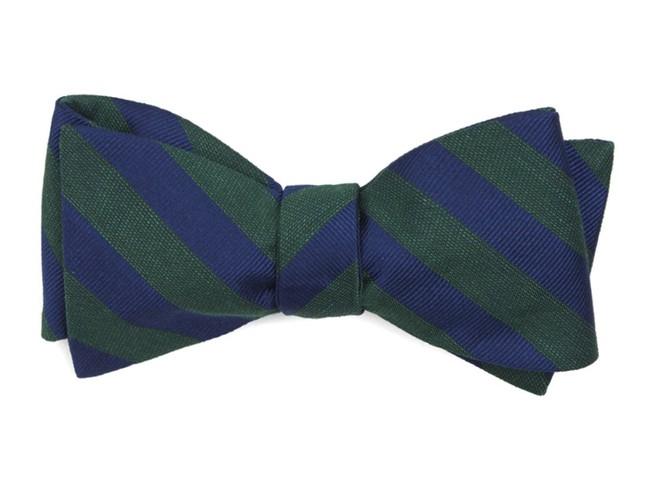 Lumber Stripe Hunter Green Bow Tie