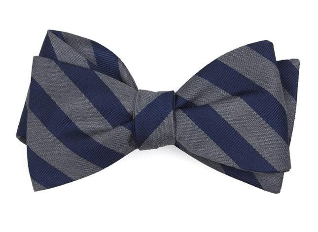 Lumber Stripe Grey Bow Tie