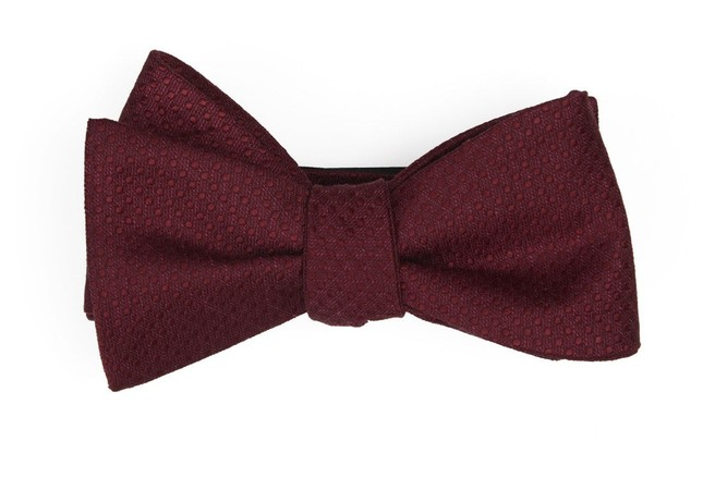Dotted Spin Burgundy Bow Tie