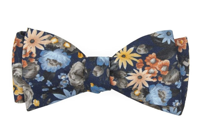 Duke Floral Navy Bow Tie