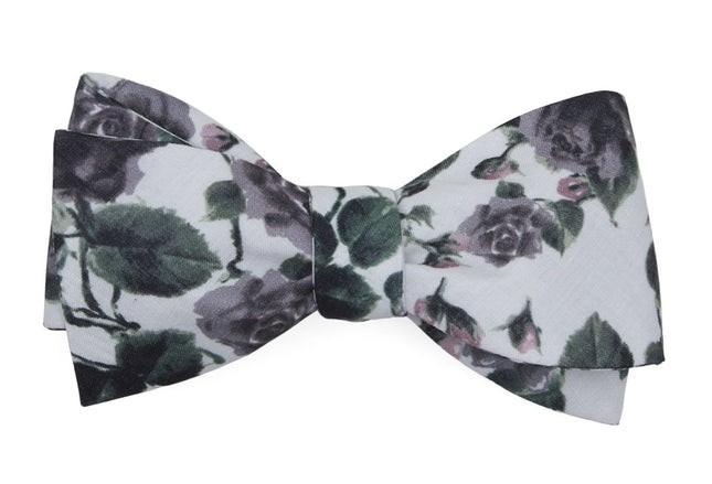 Mumu Weddings - Floral Falls Purple Bow Tie
