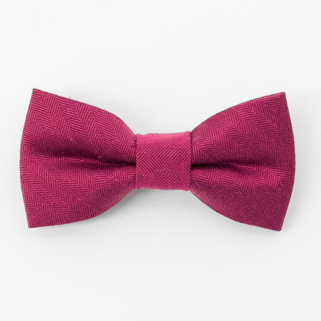 Linen Row Crimson Bow Tie