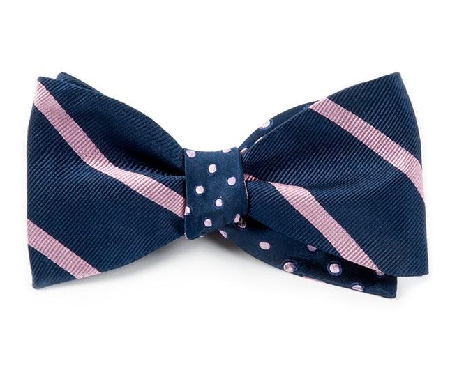 Rimmed/Trad Navy Bow Tie