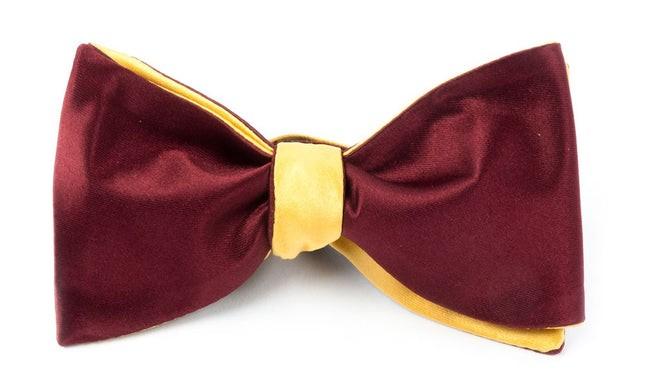 Solid Satin Crimson Bow Tie