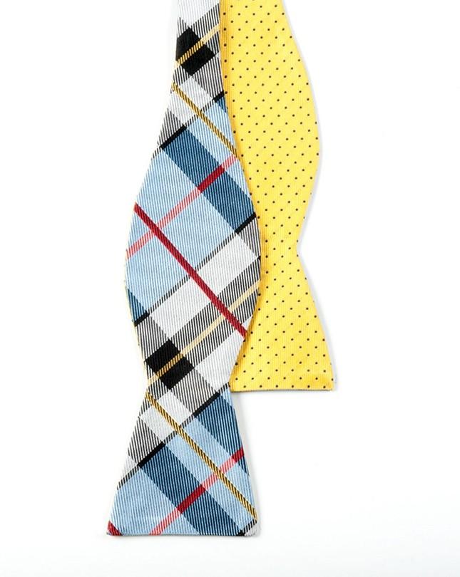 Grandiose Dots Light Blue Bow Tie