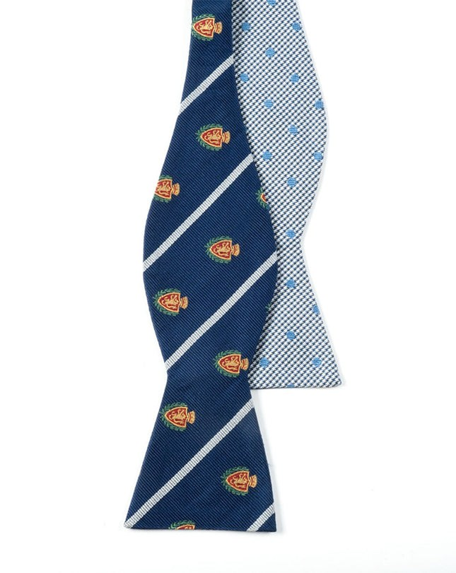 Club Houndstooth Dots Navy Bow Tie