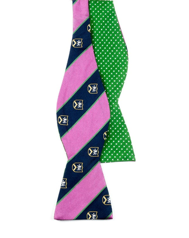 Pindot Prep Pink Bow Tie