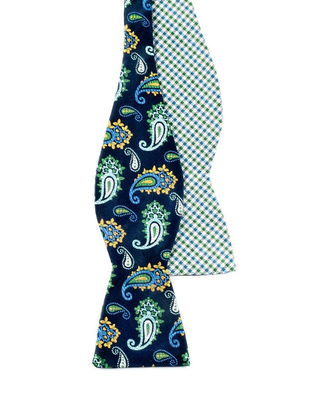 Regal Madras Blues Bow Tie